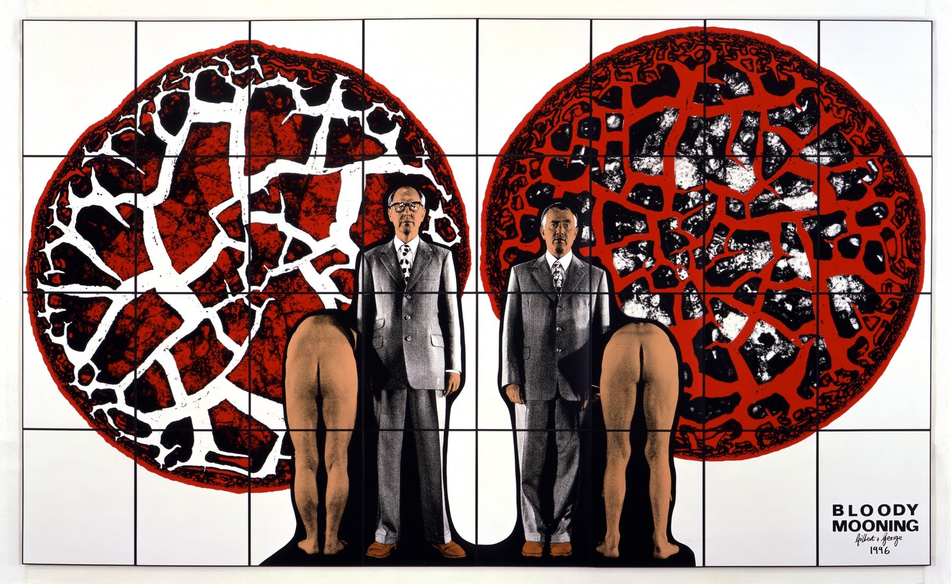 GILBERT & GEORGE, Bloody Mooning, 1996