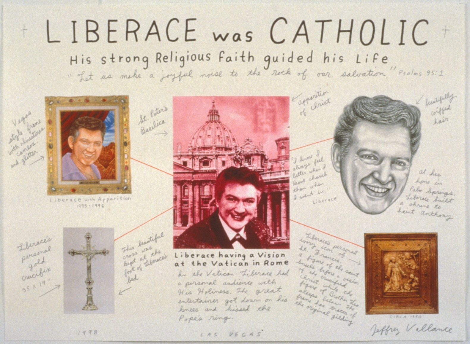 JEFFREY VALLANCE, Liberace was Catholic His Strong Religious Faith Guided His Life, 1998