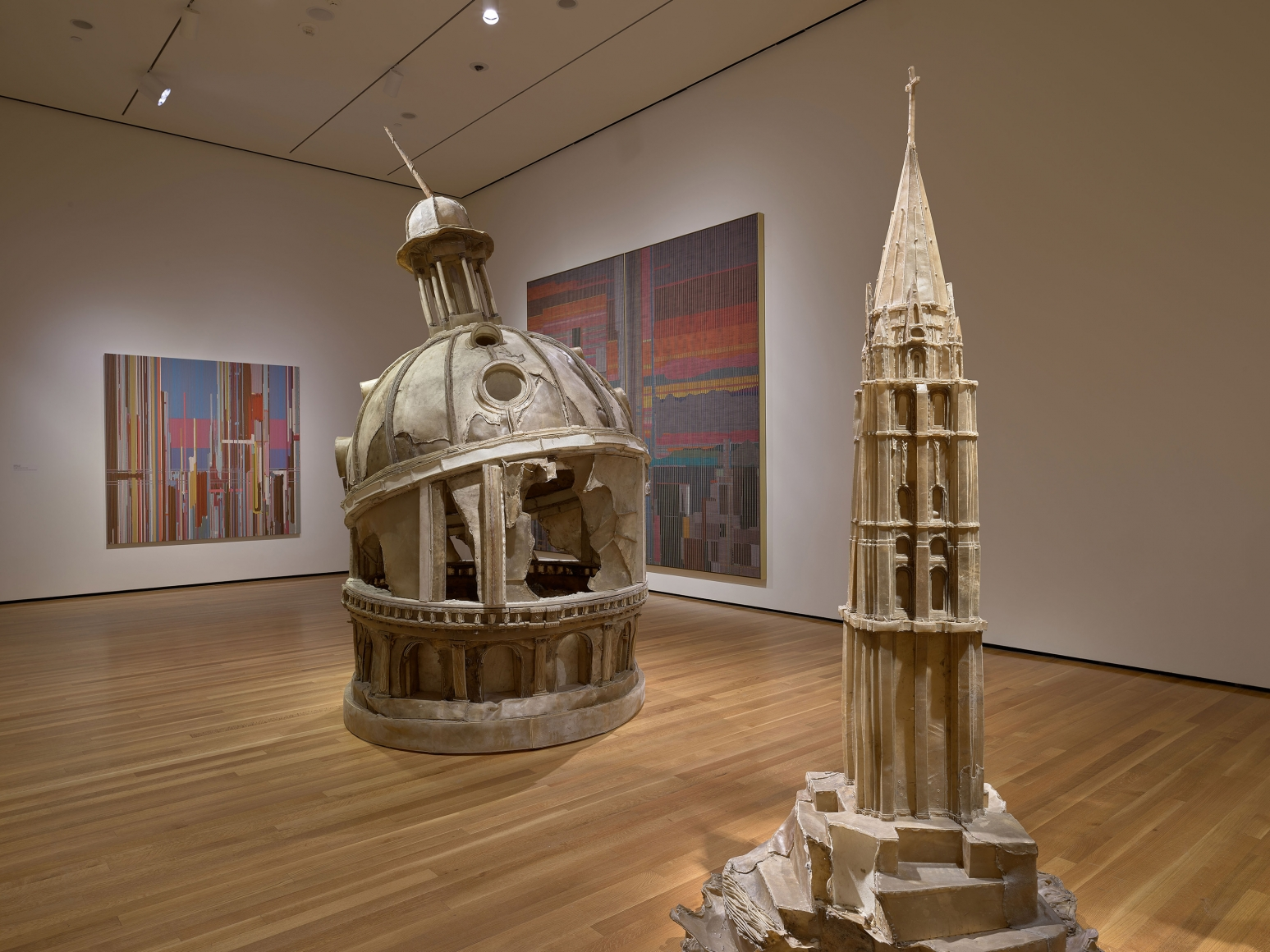 View 1 of Liu Wei's solo museum exhibition titled Invisible Cities at the Cleveland Museum of Art