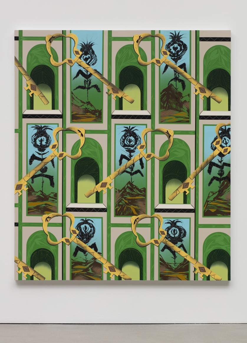 LARI PITTMAN, Portrait of a Textile (Art-Deco Toile de Jouy), 2018