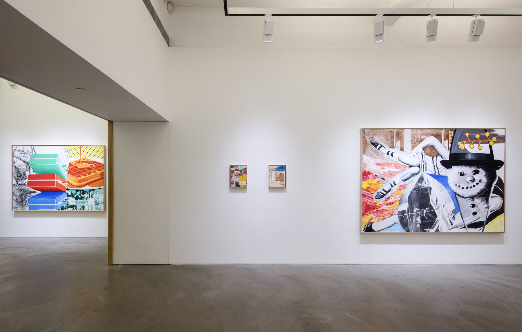 David Salle, Installation view, Lehmann Maupin, Hong Kong, 2016