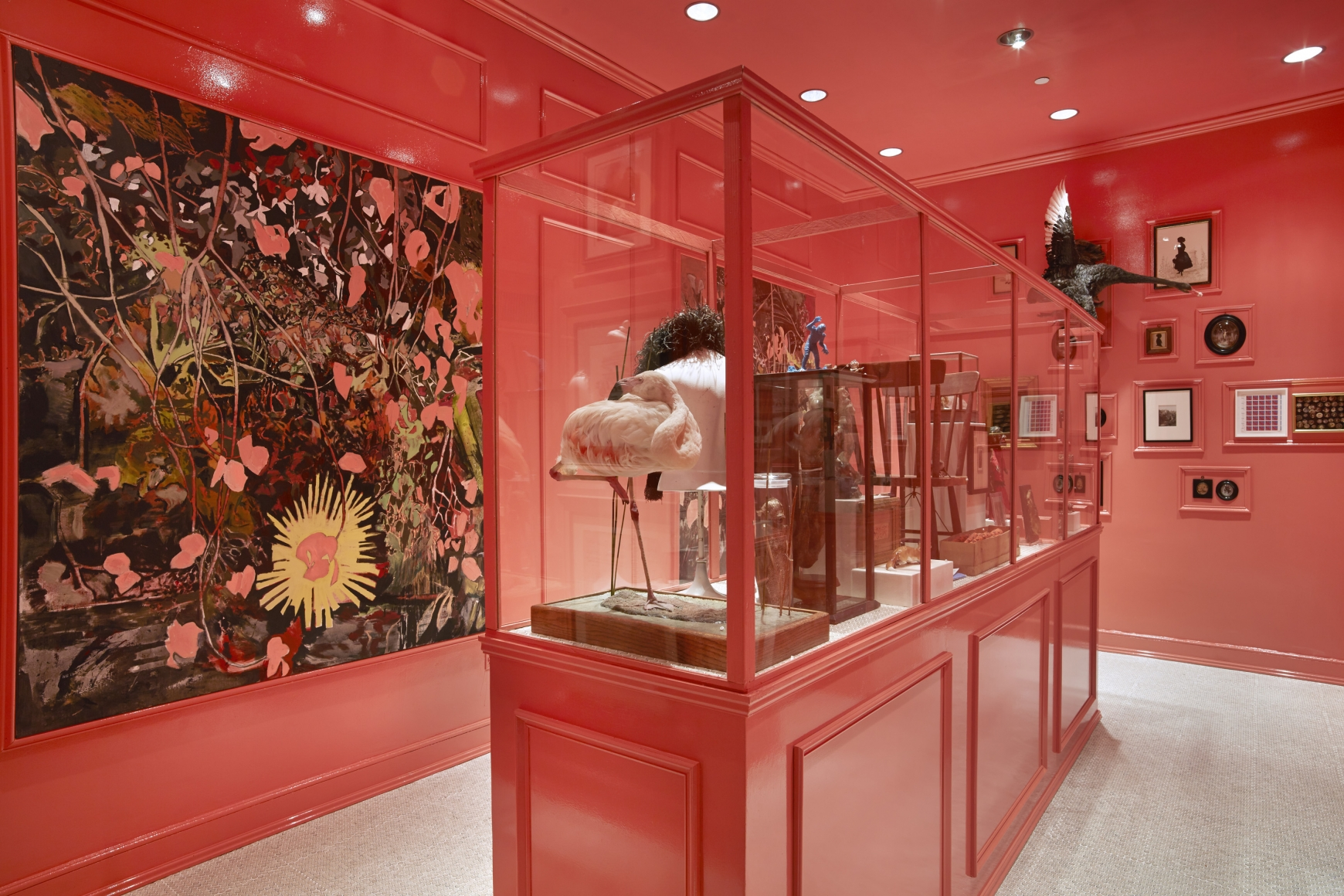 Hernan Bas,A Queer and Curious Cabinet, Bass Museumof Art, Miami, FL, 2013–2014
