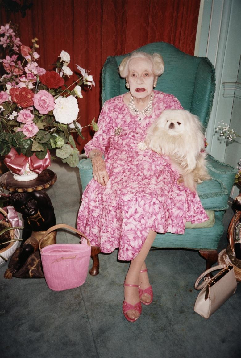 JUERGEN TELLER, Dame Barbara Cartland, Hertfordshire, 2000