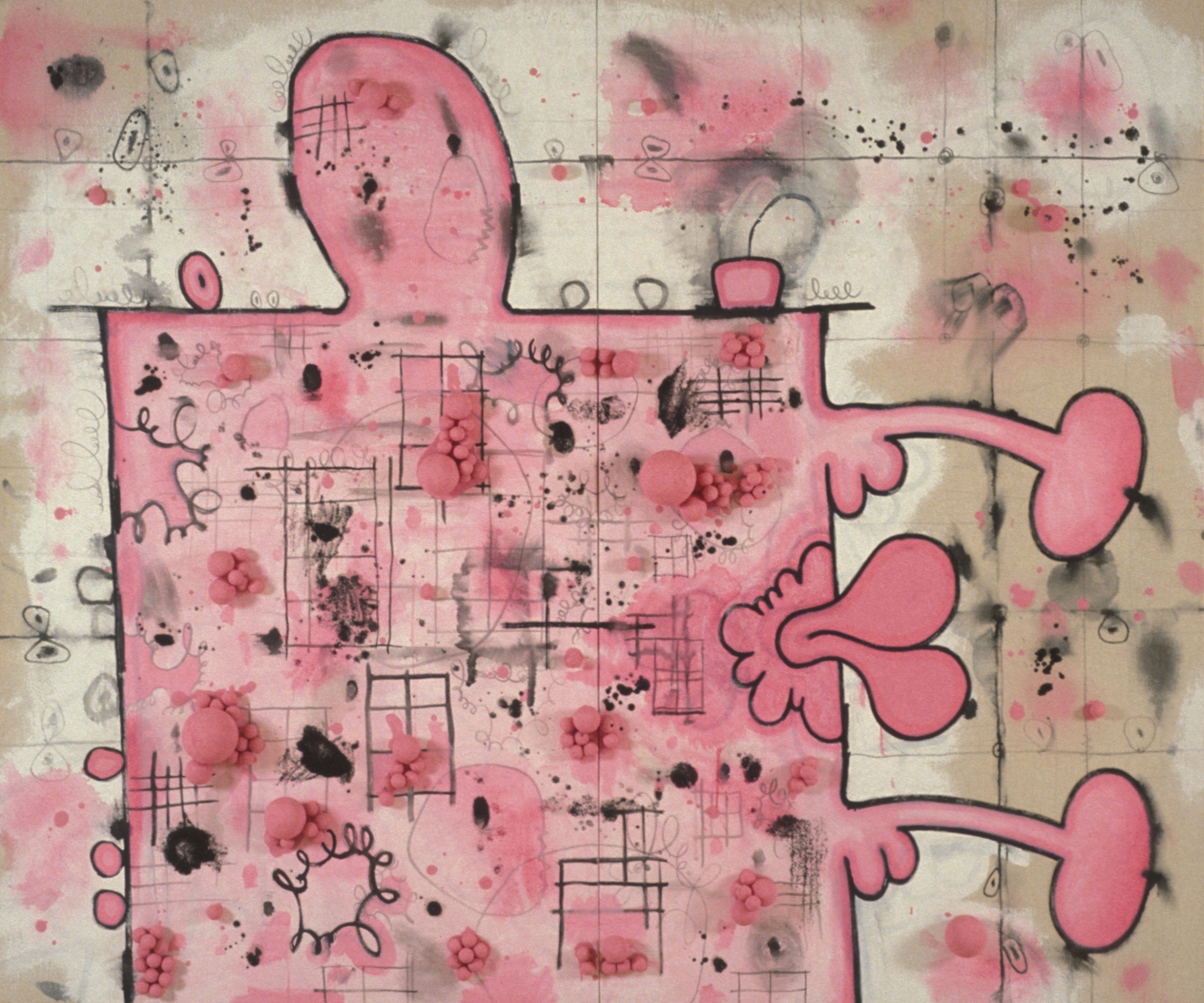 CARROLL DUNHAM, Pink Box with Two Extensions, 1995-96