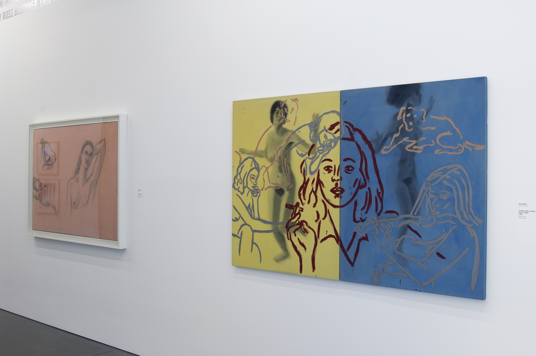 Unfinished Business: Paintings from the 1970s and 1980s by Ross Bleckner, Eric Fischl, and David Salle, Installation view, Parrish Art Museum,Water Mill, New York