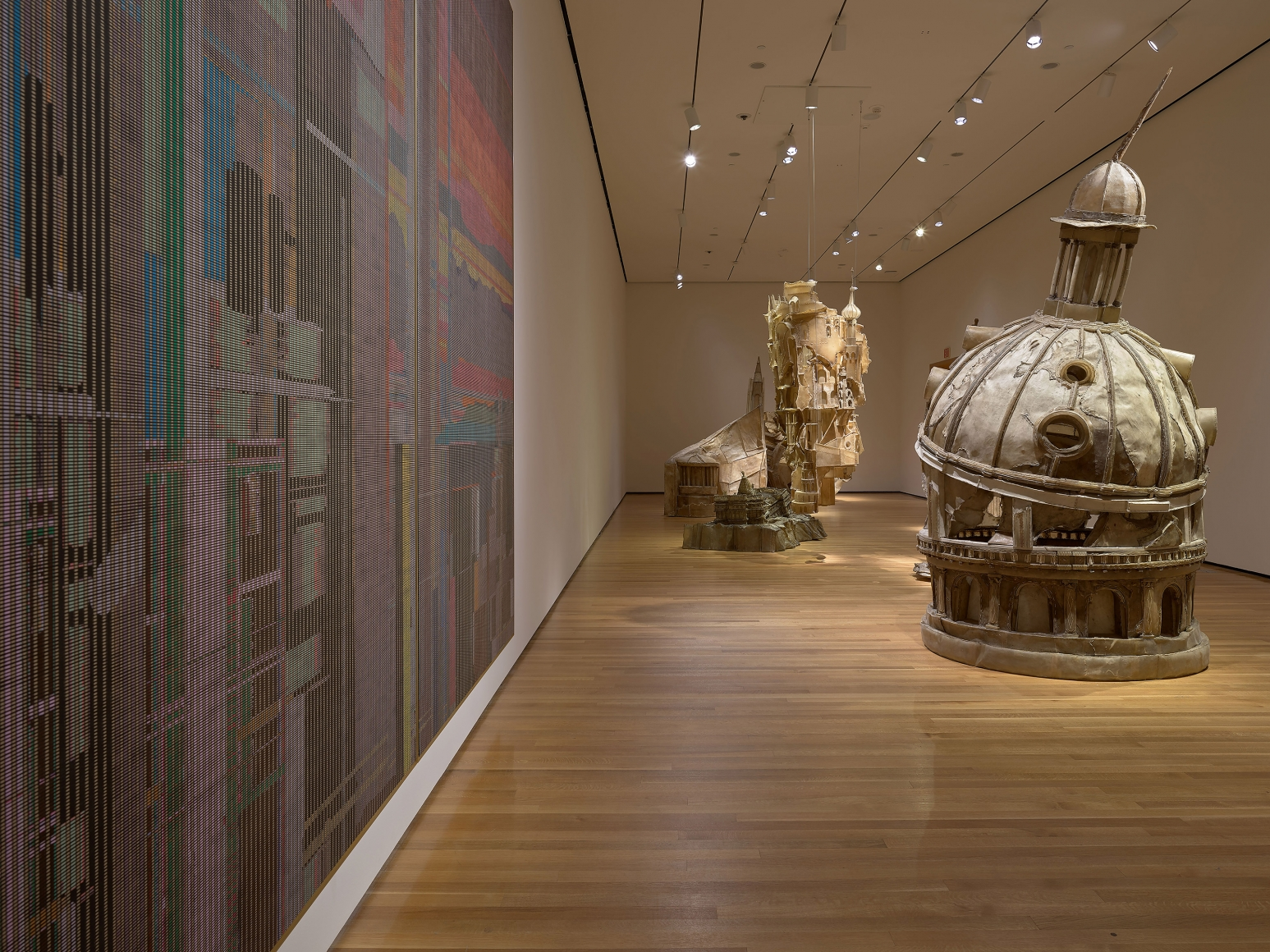 View 5 of Liu Wei's solo museum exhibition titled Invisible Cities at the Cleveland Museum of Art