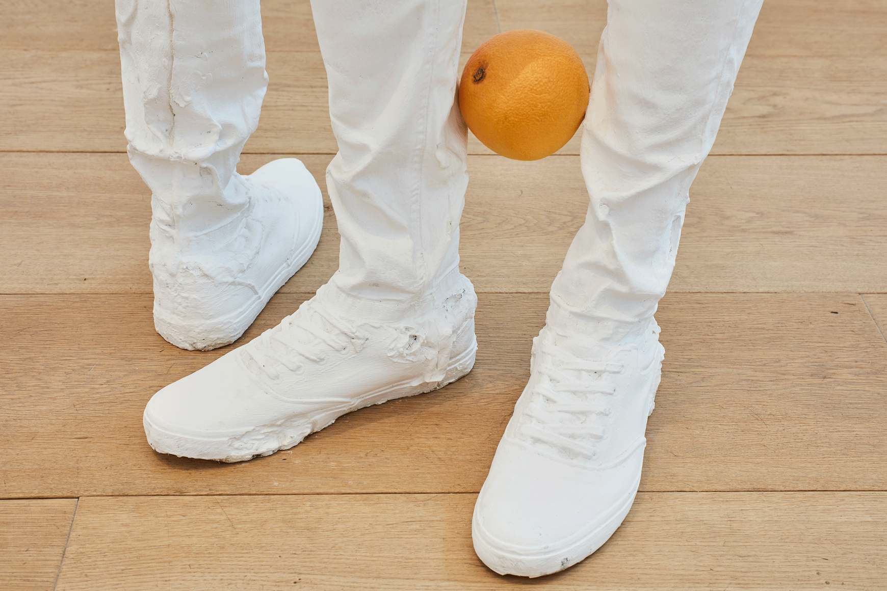 ERWIN WURM, Untitled (with fruits) (One Minute Forever), 2019 (detail)