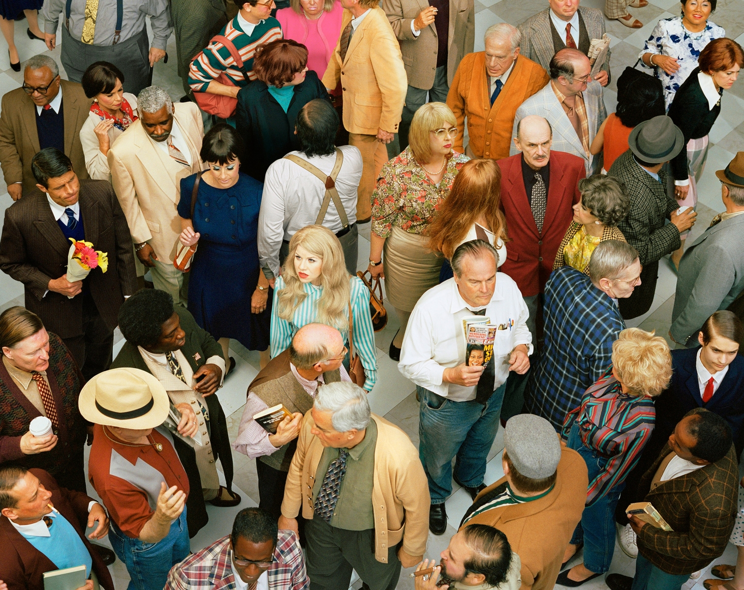 ALEX PRAGER, Crowd #4 (New Haven), 2013