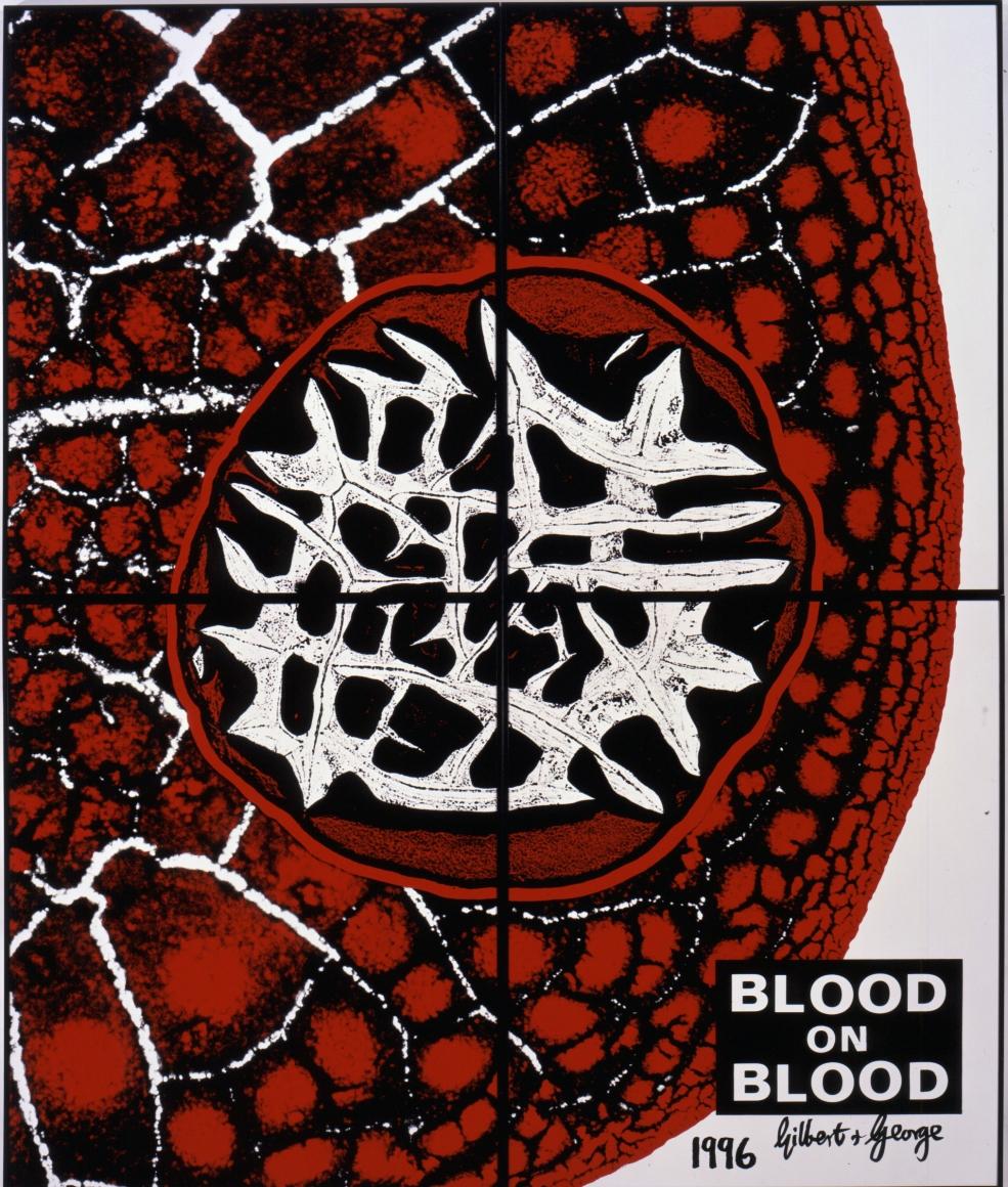 GILBERT & GEORGE, Blood on Blood, 1996