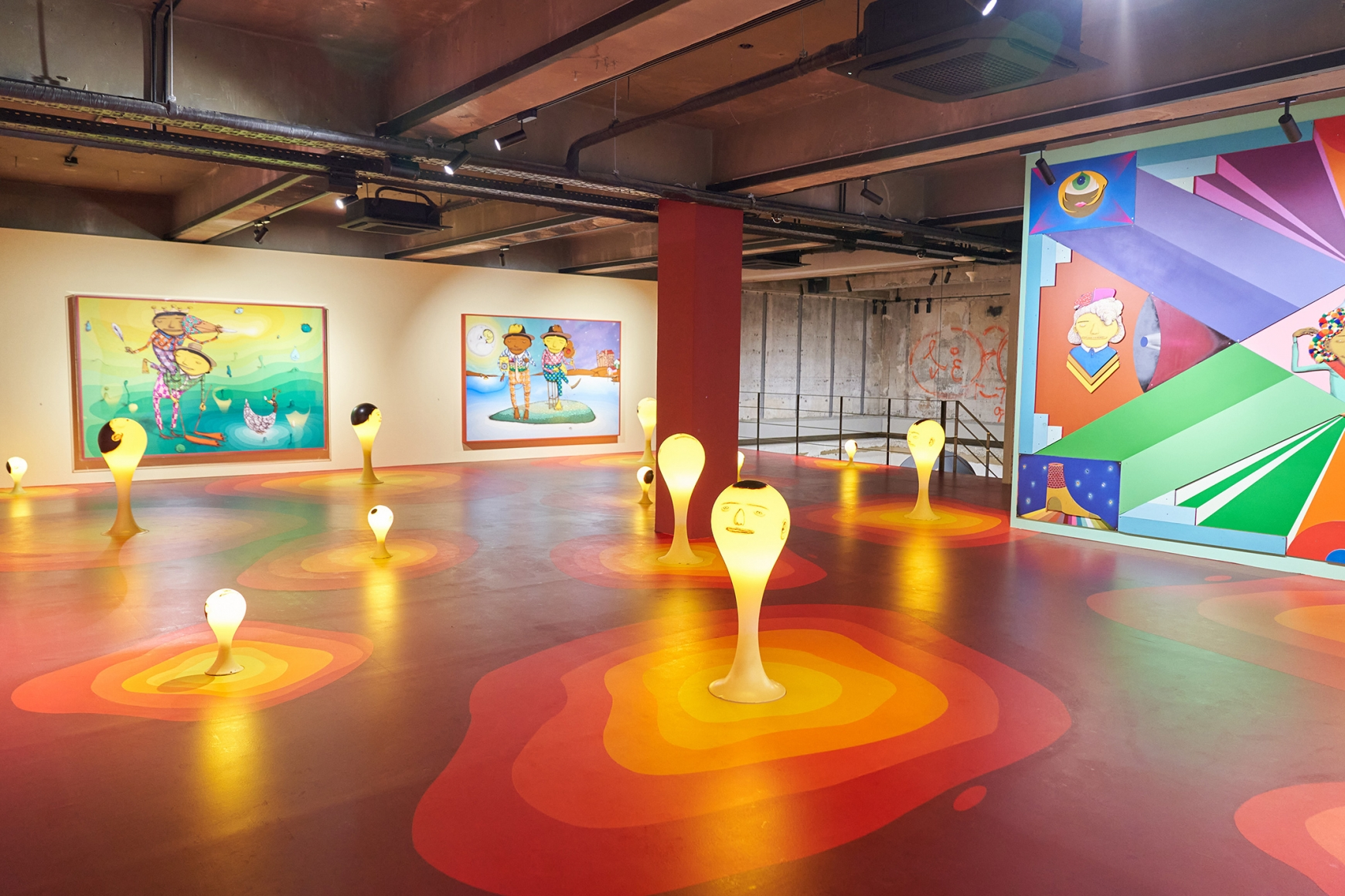 First installation view of the exhibition OSGEMEOS: You Are My Guest in Seoul