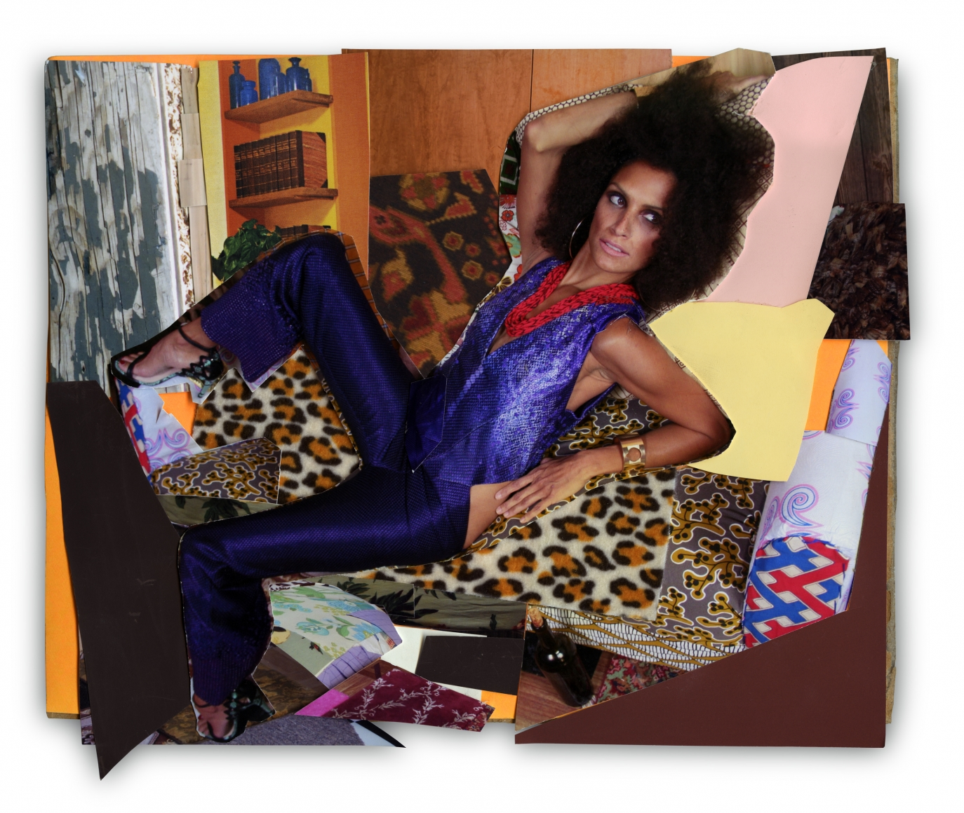 MICKALENE THOMAS, Racquel Leaned Back, 2013