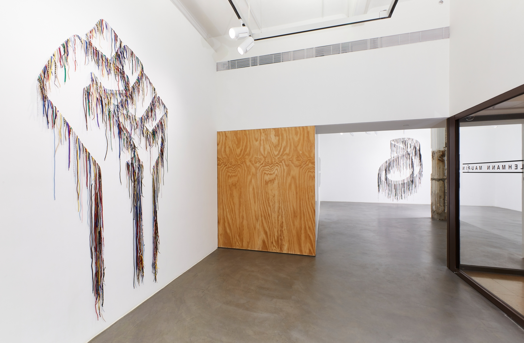 Exhibition view 2 of Robin Rhode & Nari Ward: Power Wall