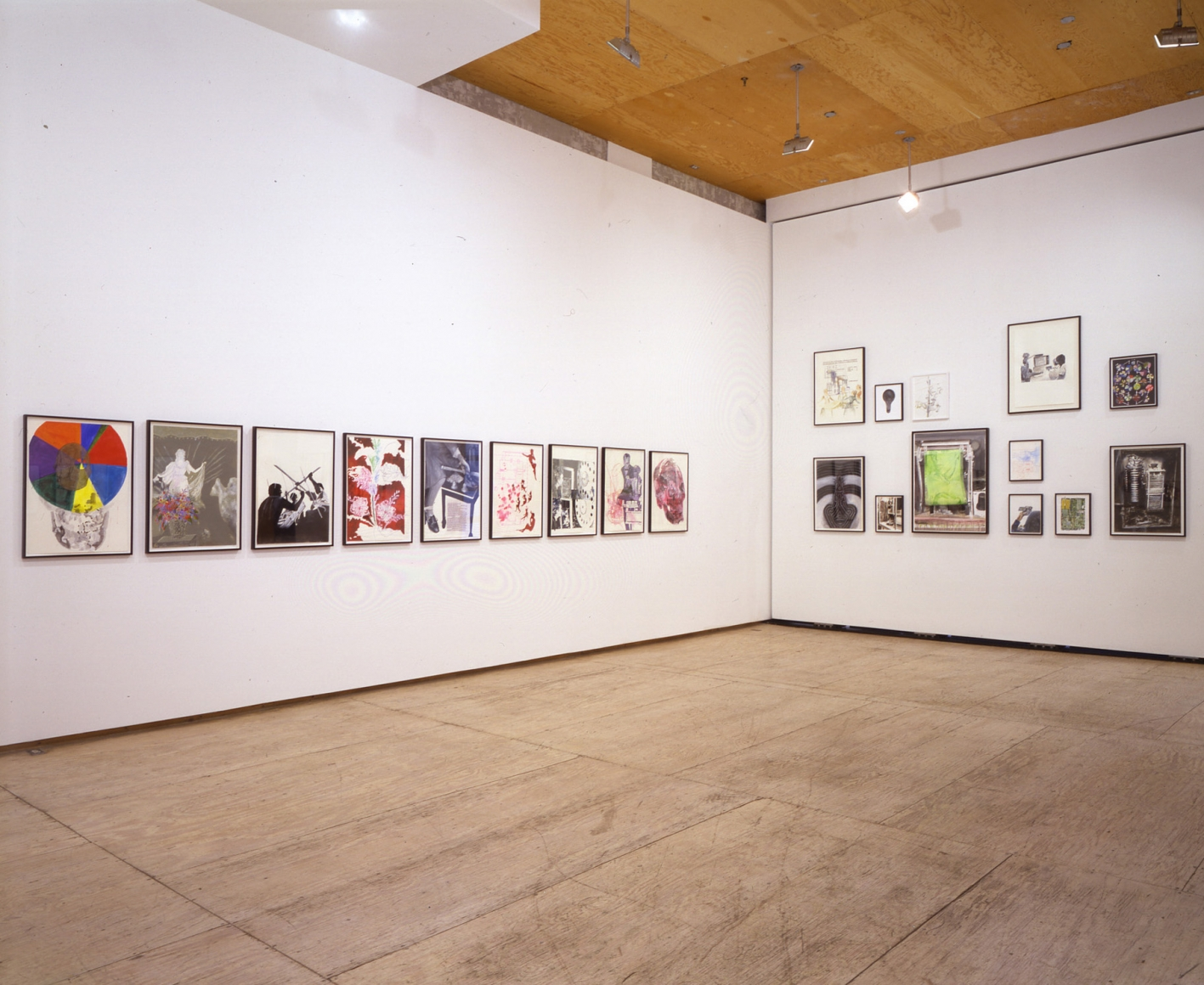Tony Oursler Drawings 11 April - 1 June 2002 installation view 3