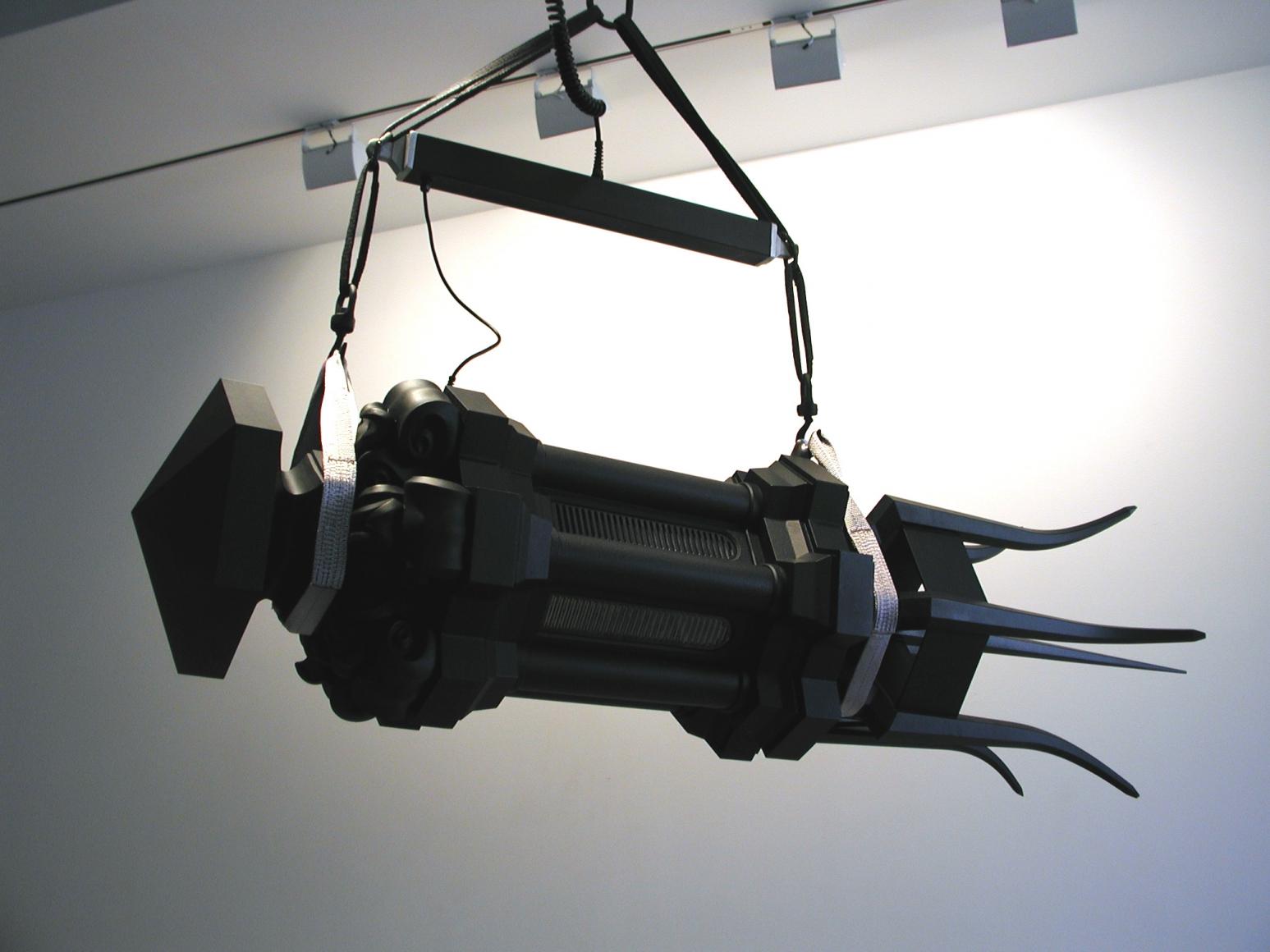 JULIAN LAVERDIERE, Lantern Shuttlecock (Black Mihrab), 2003