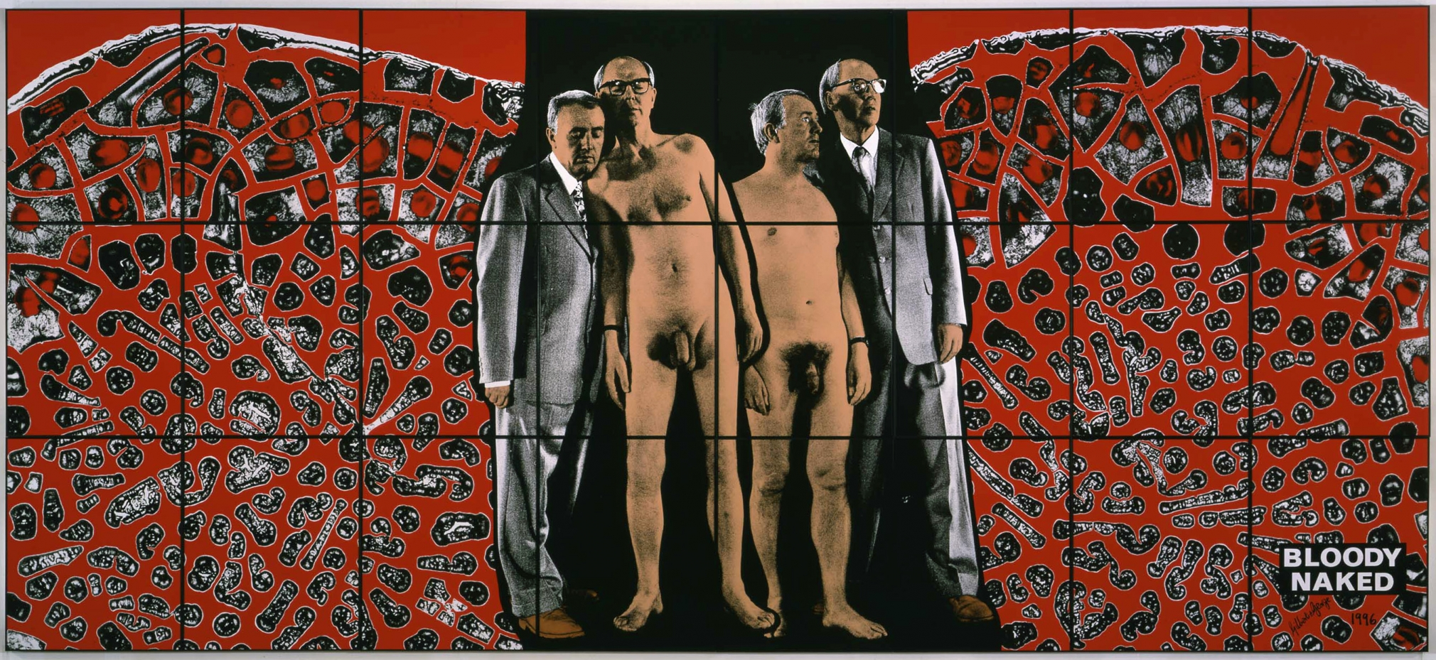 GILBERT & GEORGE, Bloody Naked, 1996