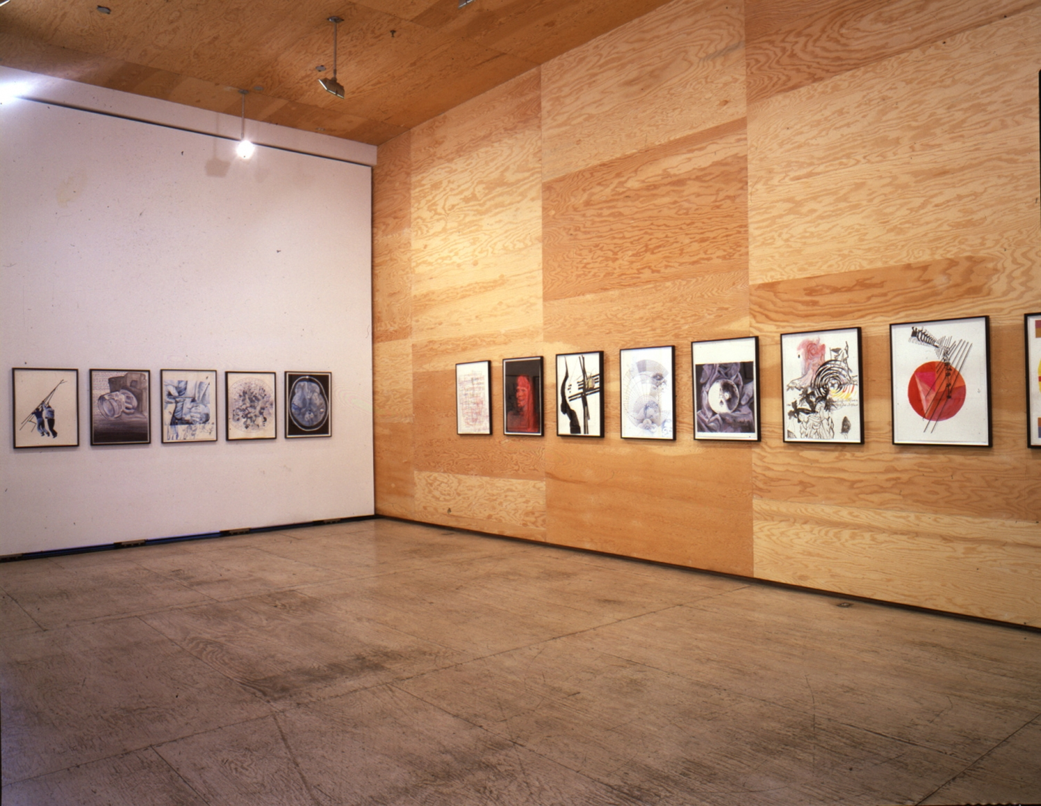 Tony Oursler Drawings 11 April - 1 June 2002 installation view 2