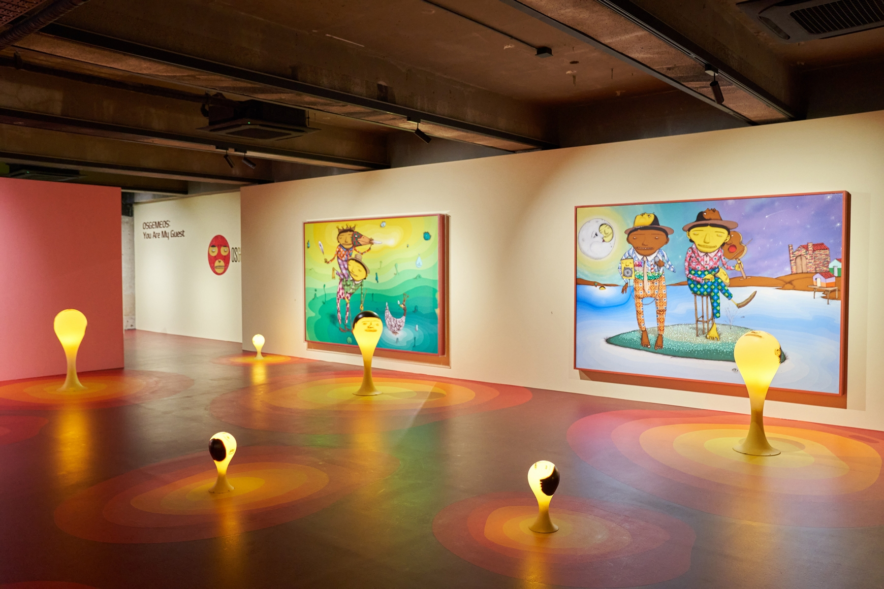 OSGEMEOS: You Are My Guest, Installation view