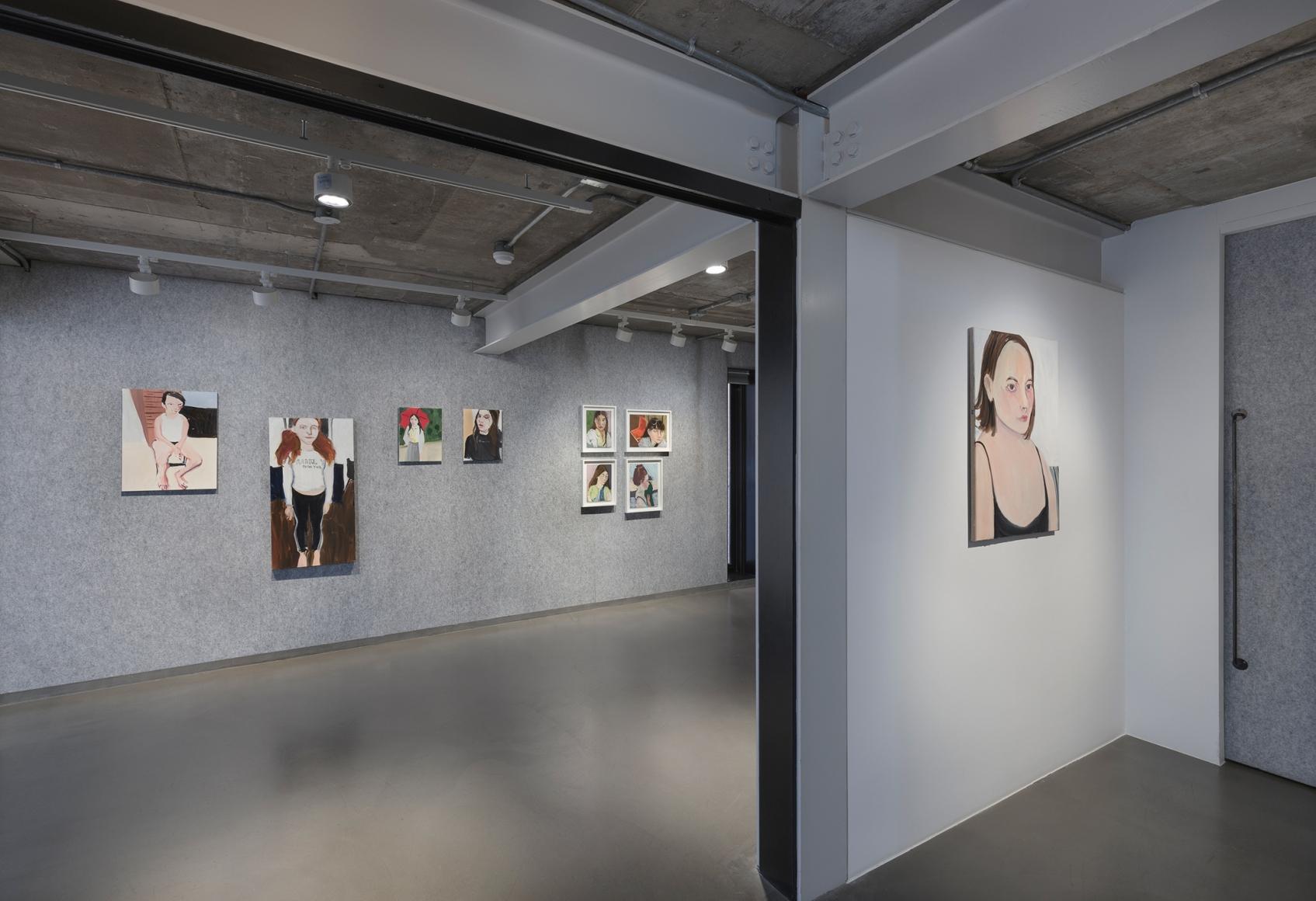 Chantal Joffe,Teenagers, Installation view, Lehmann Maupin, Seoul, 2020