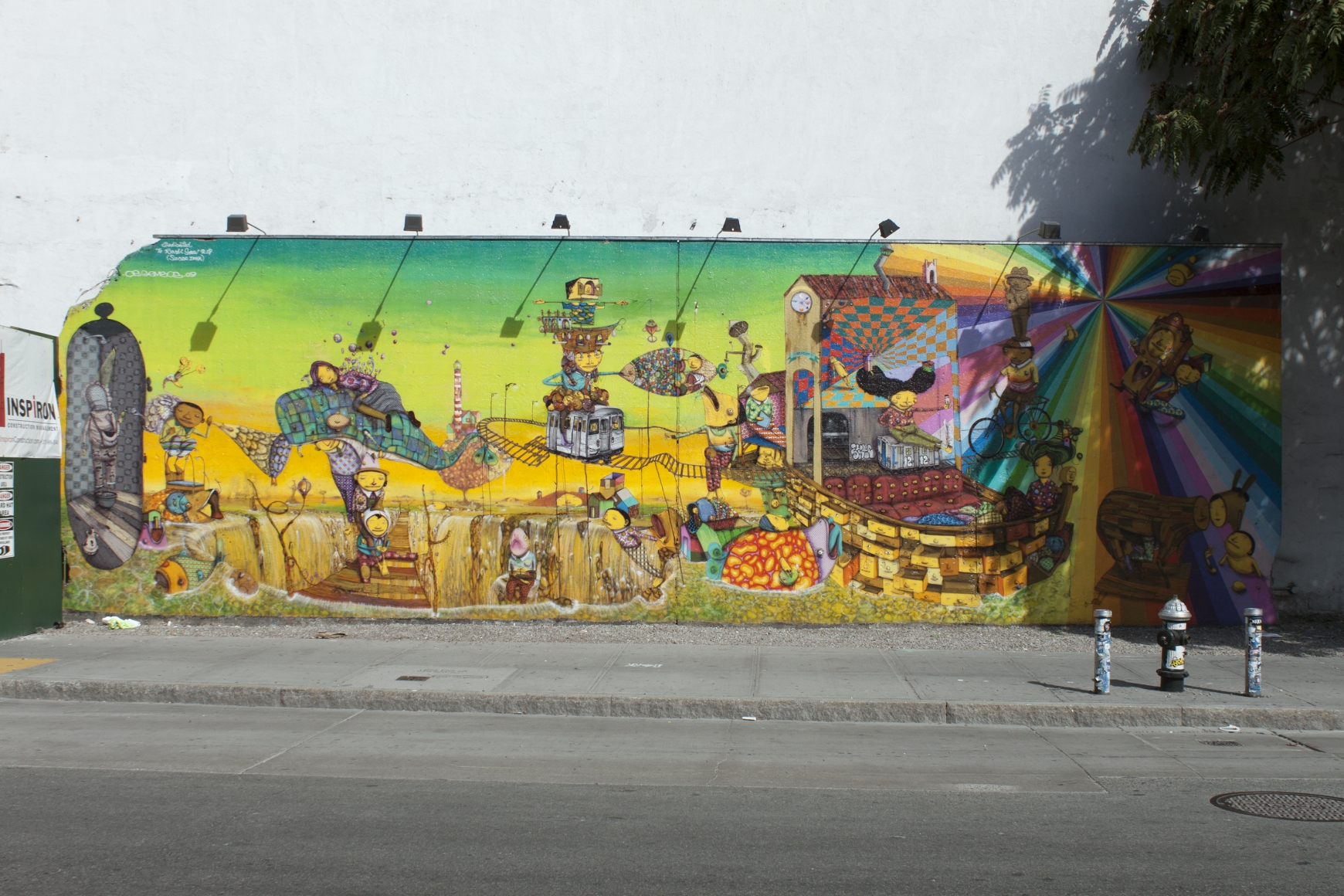 OGEMEOS Houston Street and Bowery Mural, 2009