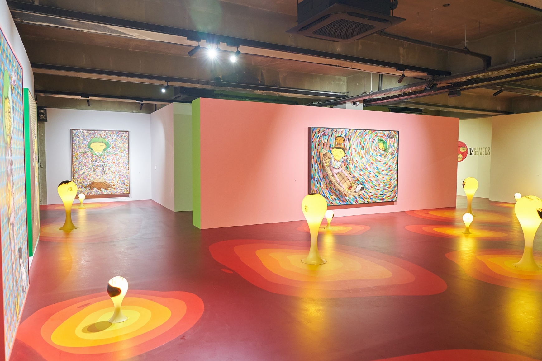 Second installation view of the exhibition OSGEMEOS: You Are My Guest in Seoul