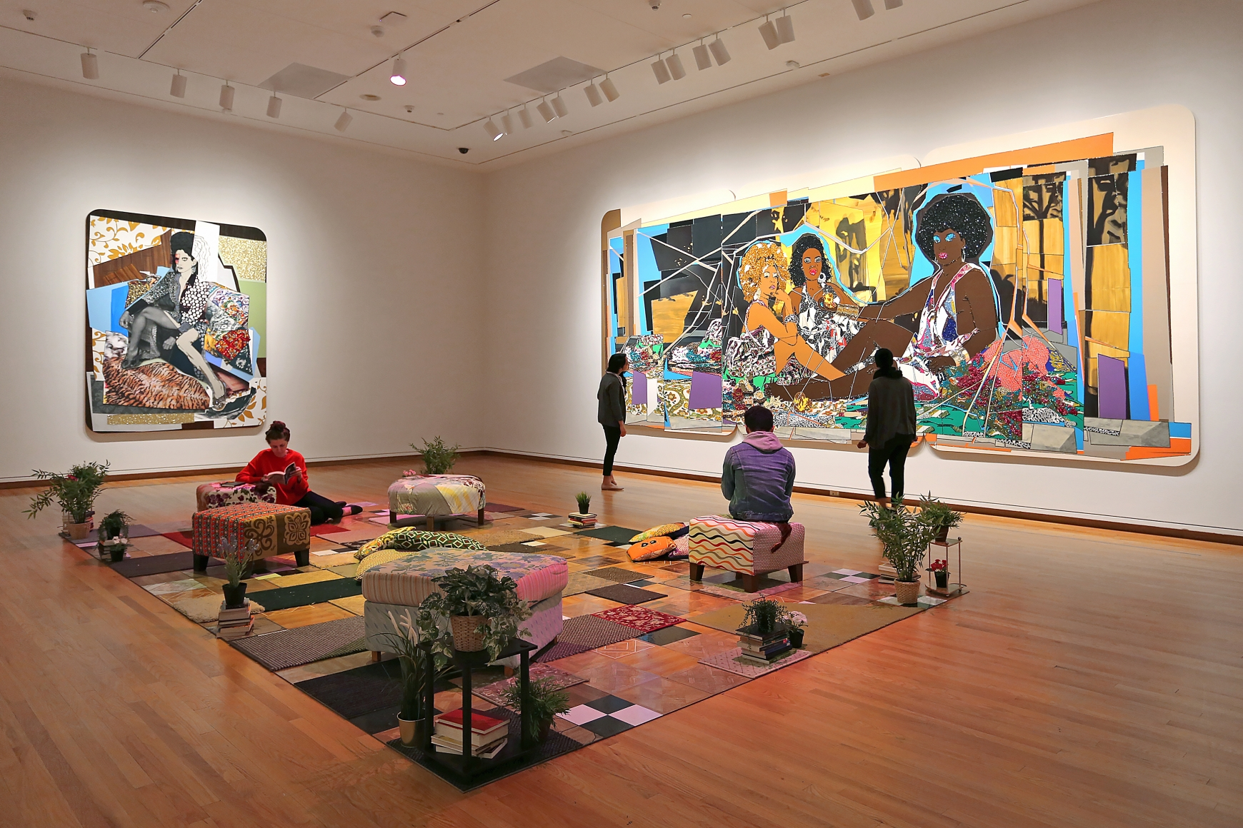 Figuring History: Robert Colescott, Kerry James Marshall, Mickalene Thomas, Installation view, Seattle Art Museum, Seattle, WA