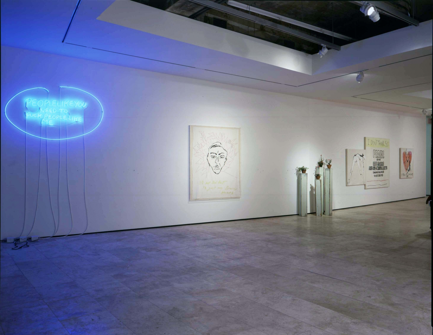 Tracey Emin: I Think It's In My Head Installation view, Lehmann Maupin Gallery 21 September - 19 October 2002 view 4