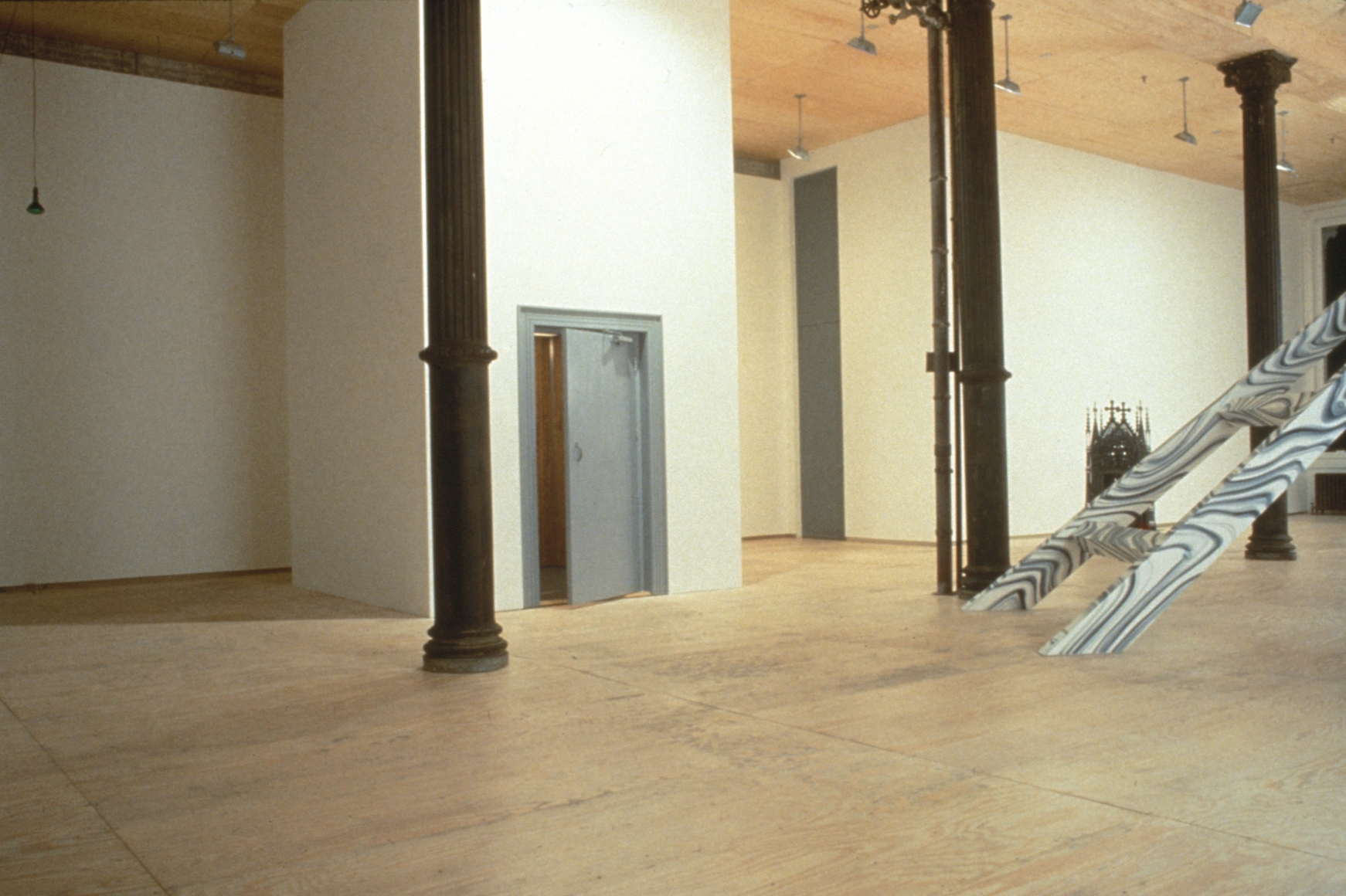 Installation view of Moving Structures at Lehmann Maupin in New York, view 1