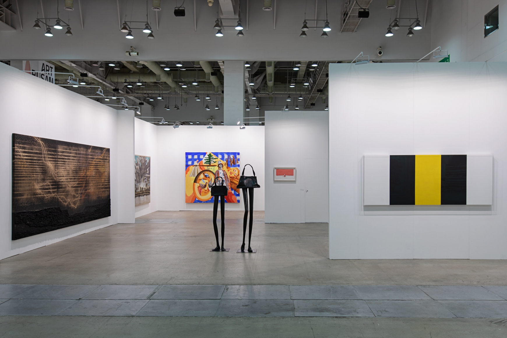 First installation view of Lehmann Maupin's booth at Art Busan & design 2020