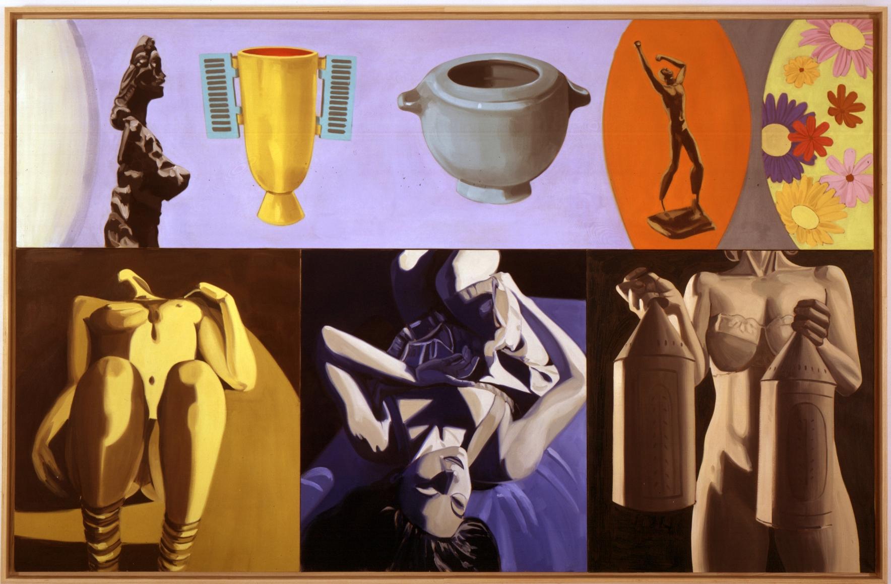 DAVID SALLE, Shuttered Vase, 2002