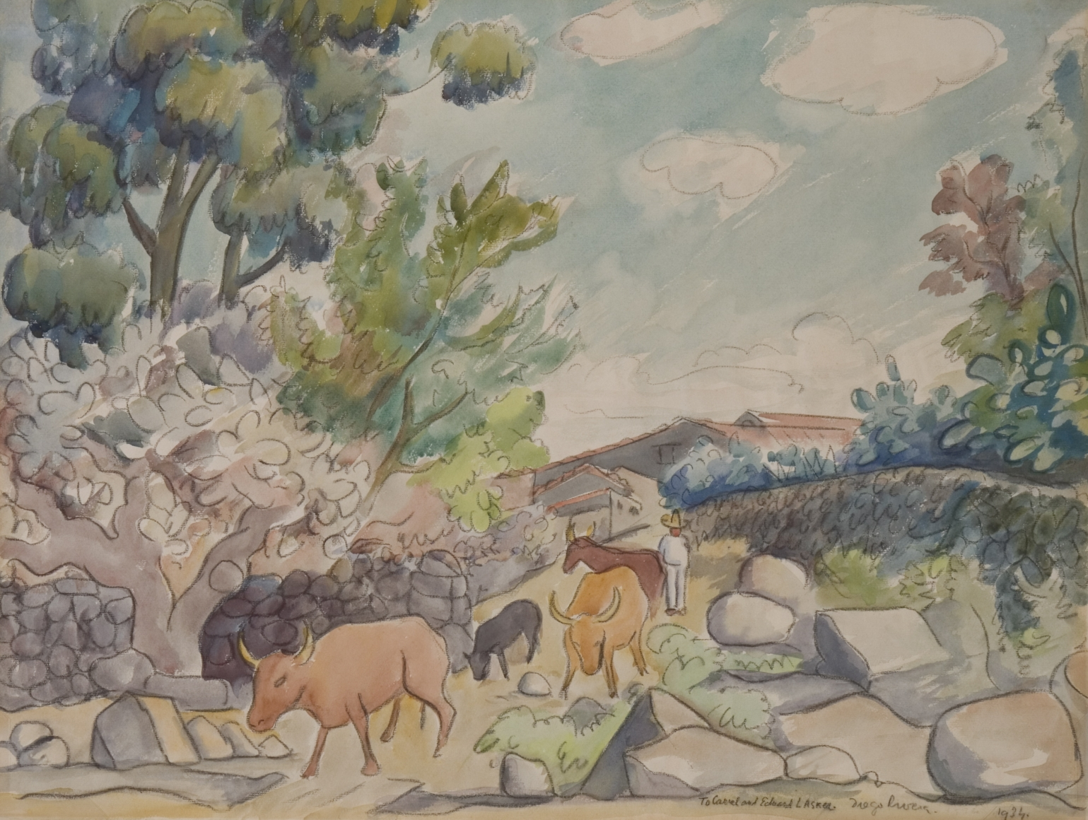 Diego-Rivera-Herding-Cattle