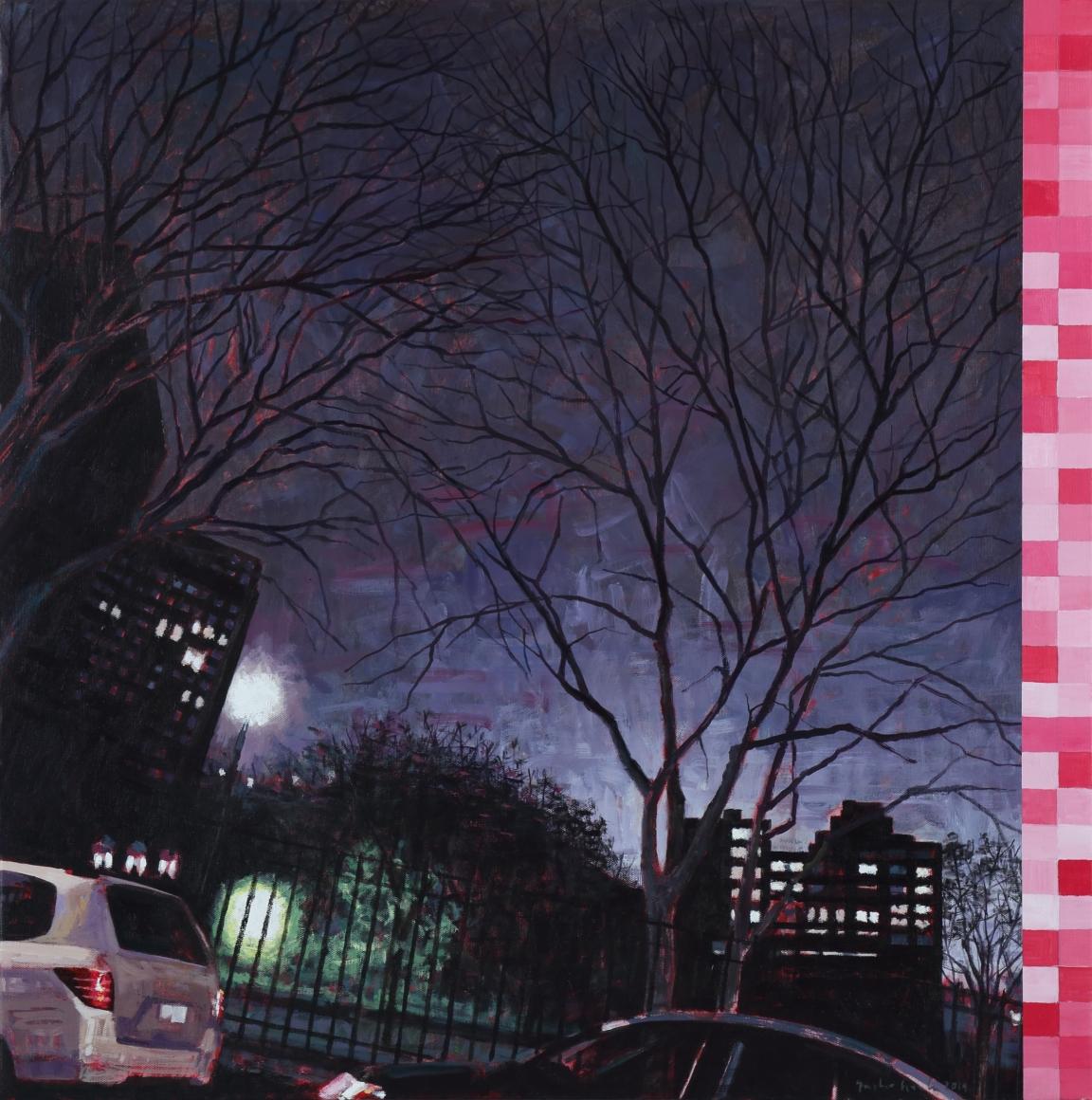 Gustavo Acosta painting og Norther Lights