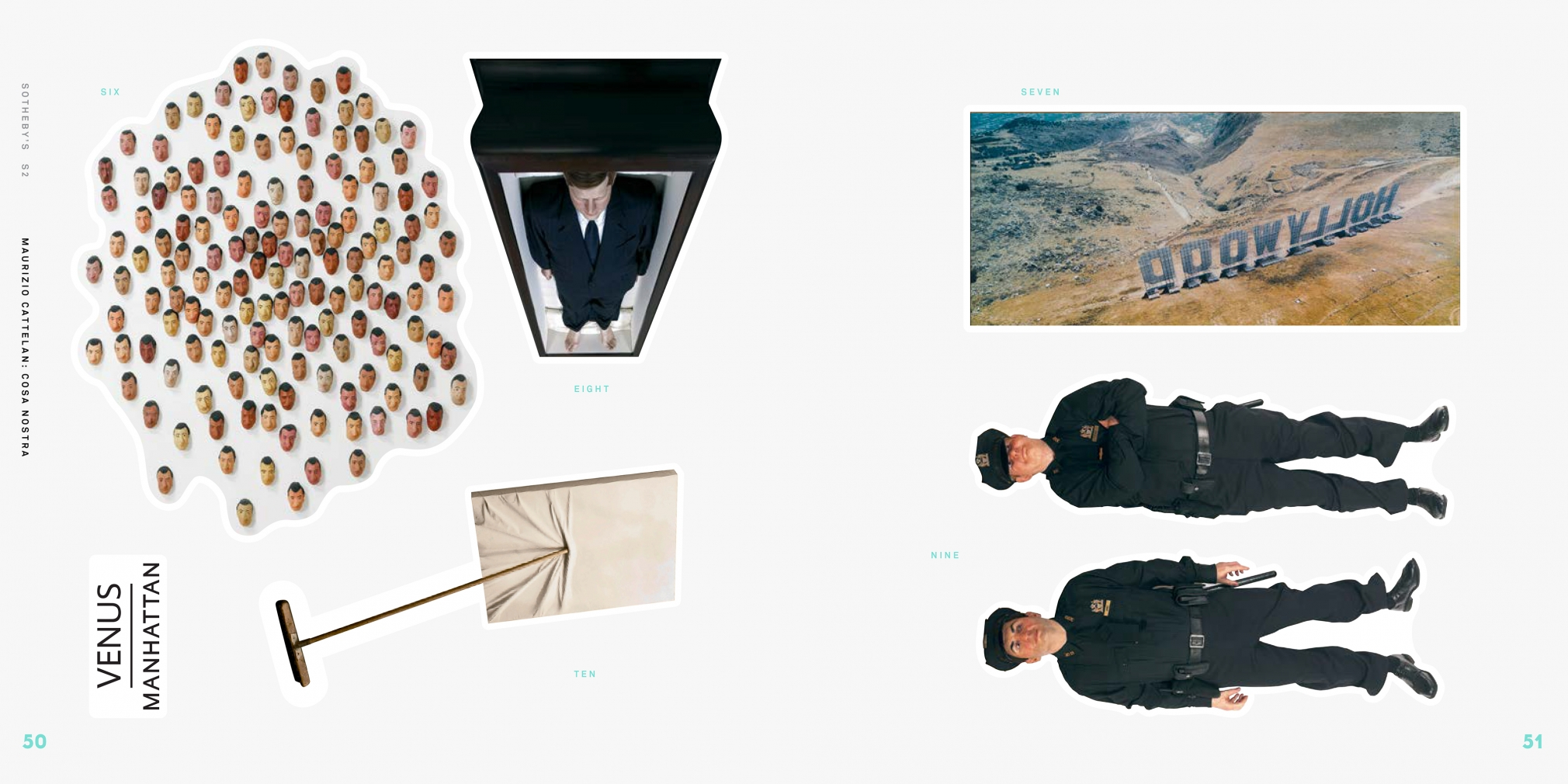 Interior view of Maurizio Cattelan: Cosa Nostra, published by Venus Over Manhattan and Sotheby's S|2, New York, 2014
