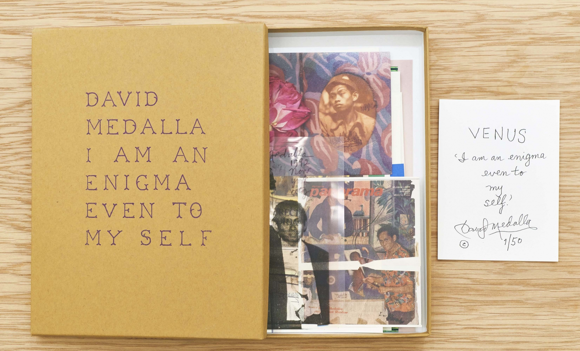 Interior view of David Medalla: I am an enigma, even to myself, published by Venus Over Manhattan, New York, 2016