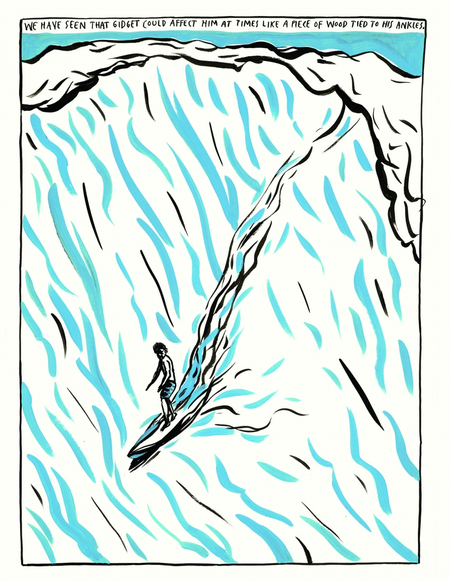 Cover of Raymond Pettibon: Surfers 1985-2015, published by Venus Over Manhattan and David Zwirner, New York, 2015