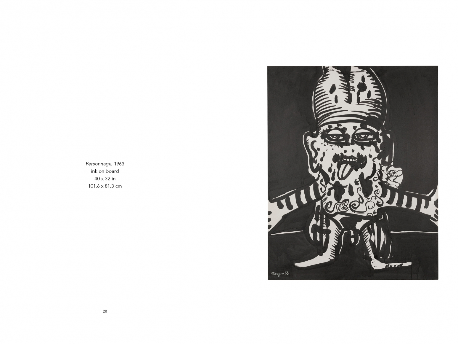 Interior view of Maryan: Personnages, published by Venus Over Manhattan, New York, 2018