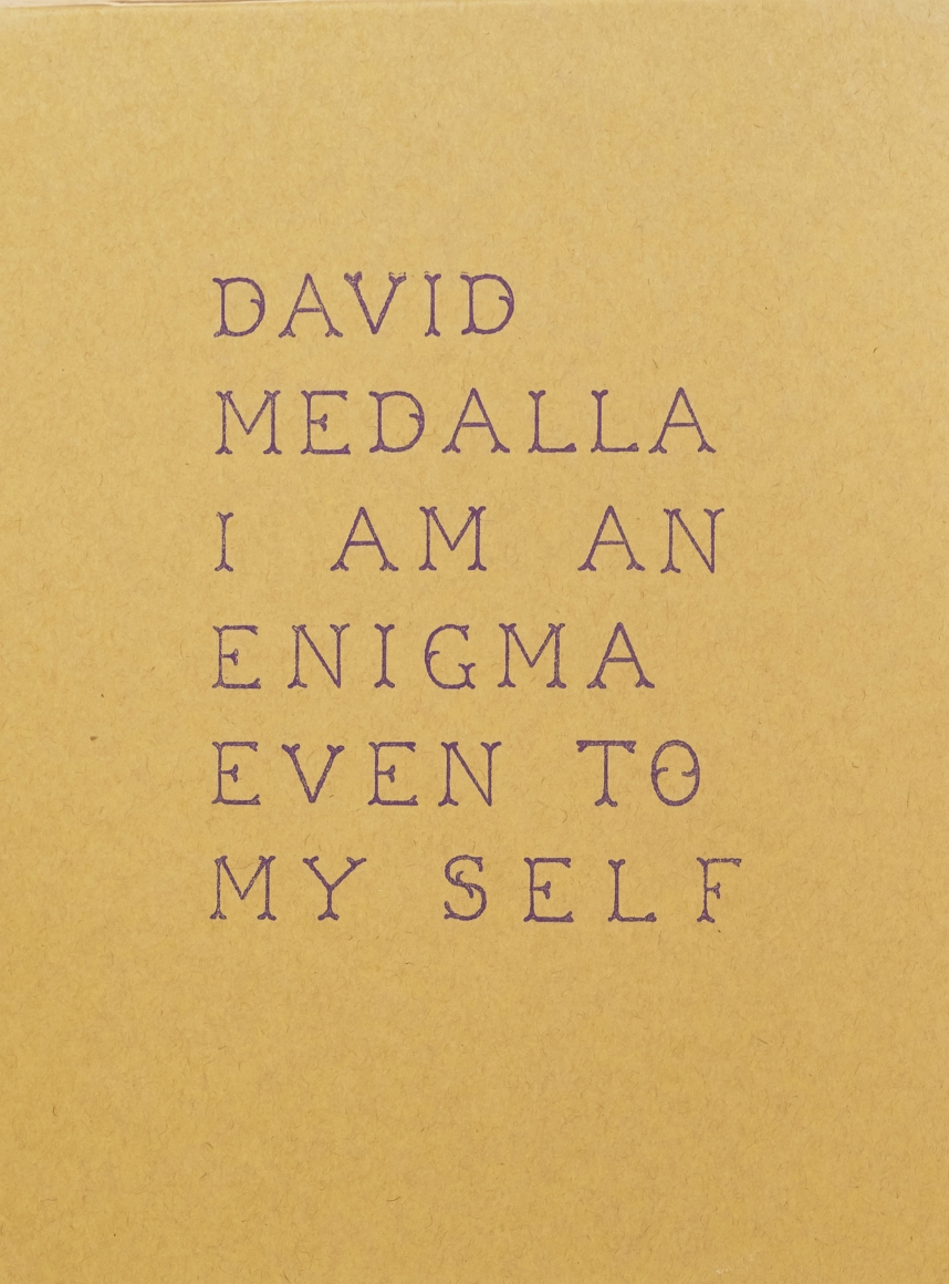 Cover of David Medalla: I am an enigma, even to myself, published by Venus Over Manhattan, New York, 2016