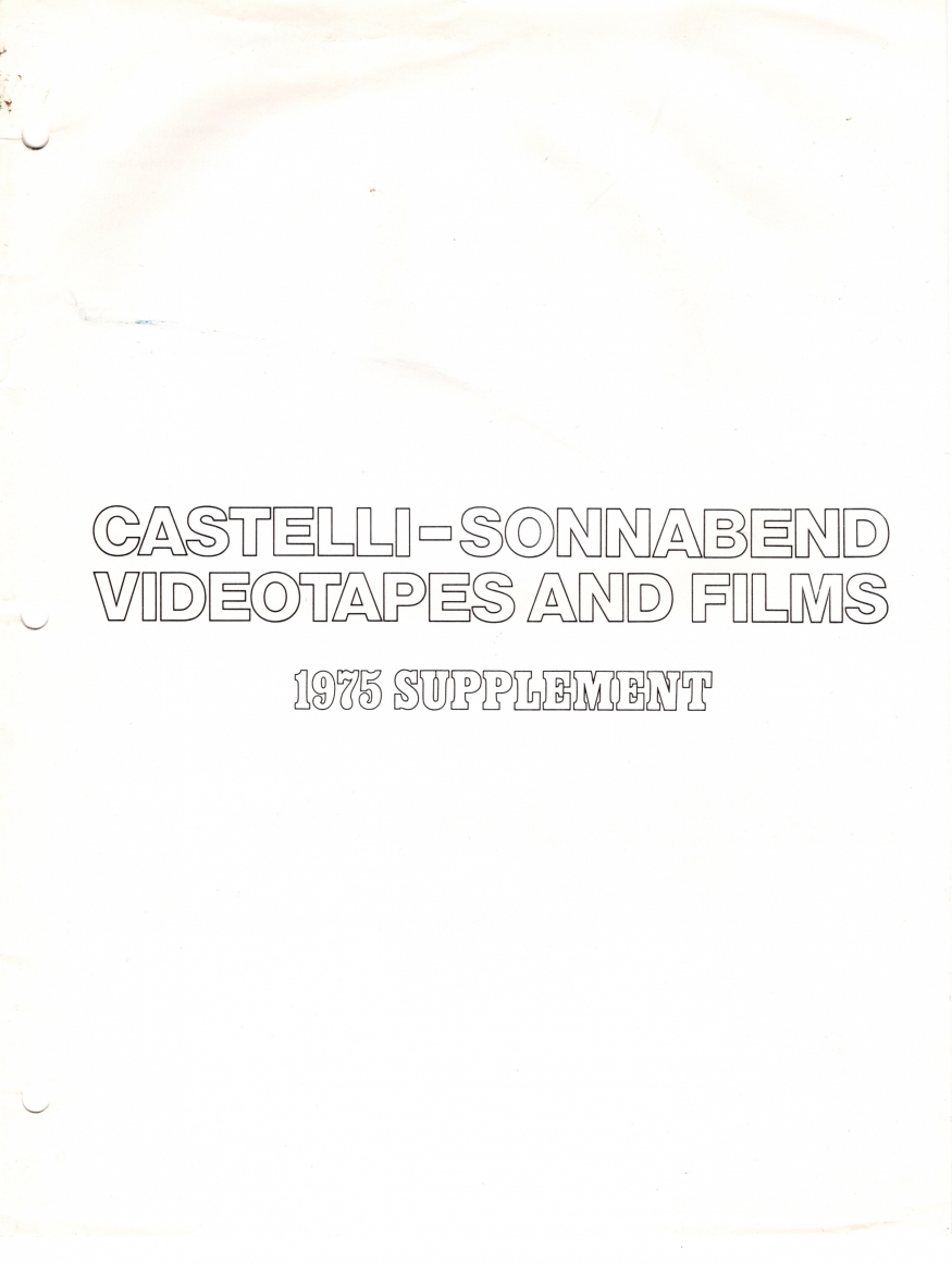 Castelli-Sonnabend Videotapes and Films