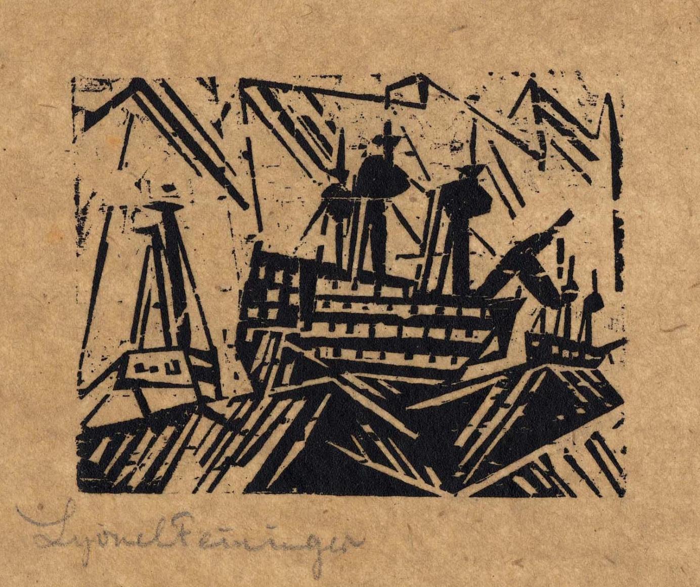 Marine woodcut by Lyonel Feininger