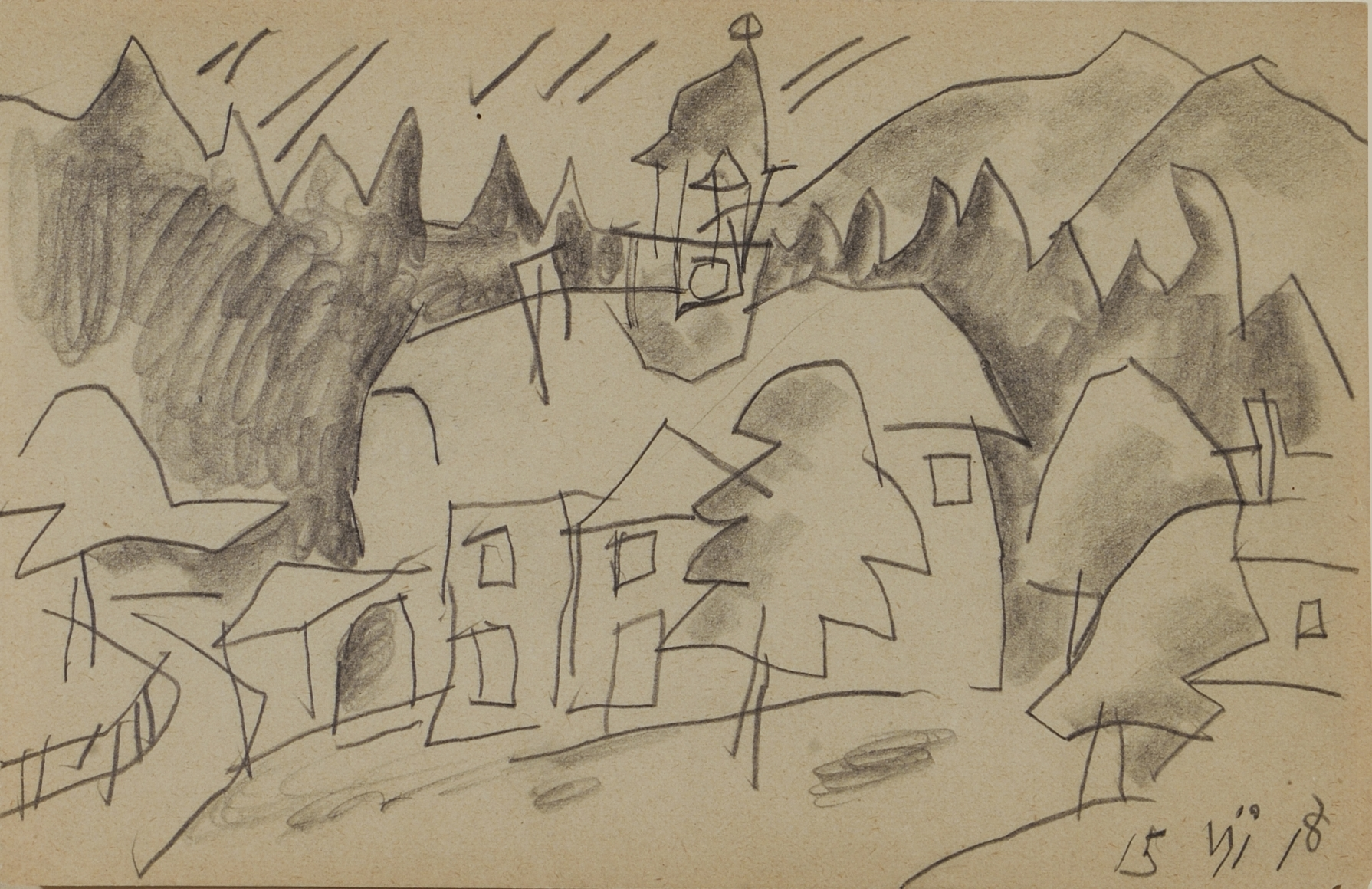 Manor House in the Woods, Harz Mountains by Lyonel Feininger