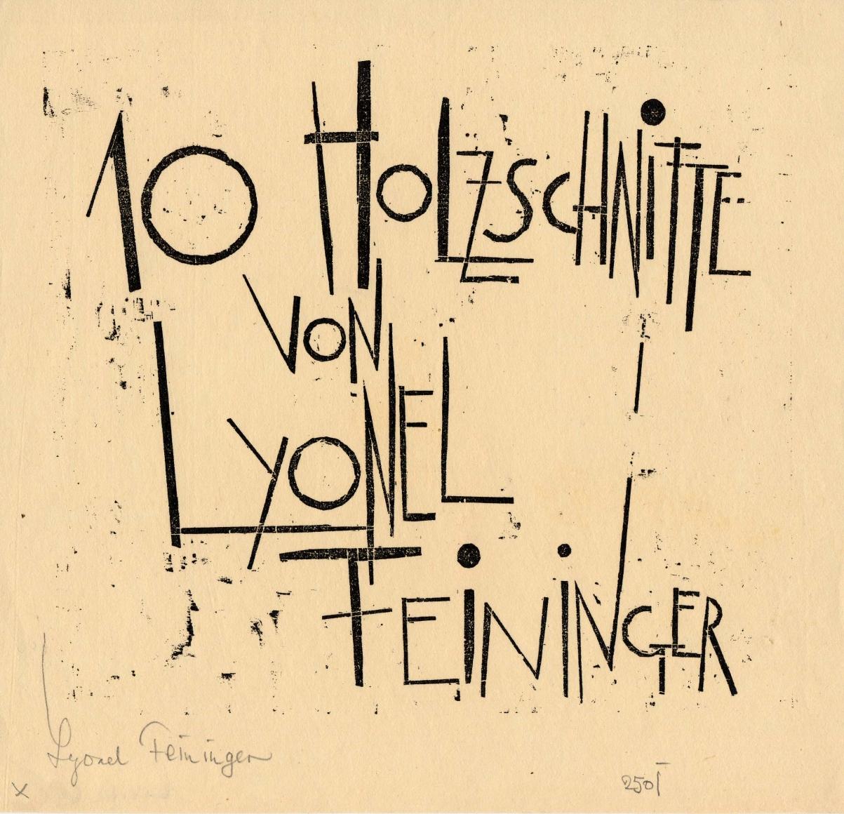 Woodcut by Lyonel Feininger