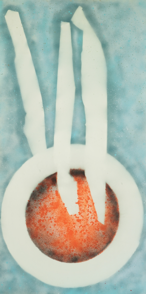 David Smith, Untitled, 1962, Spray enamel on canvas, 95 x 48 in (241.3 x 121.9 cm), Dated on reverse: Feb-7-1962, Albright-Knox Art Gallery