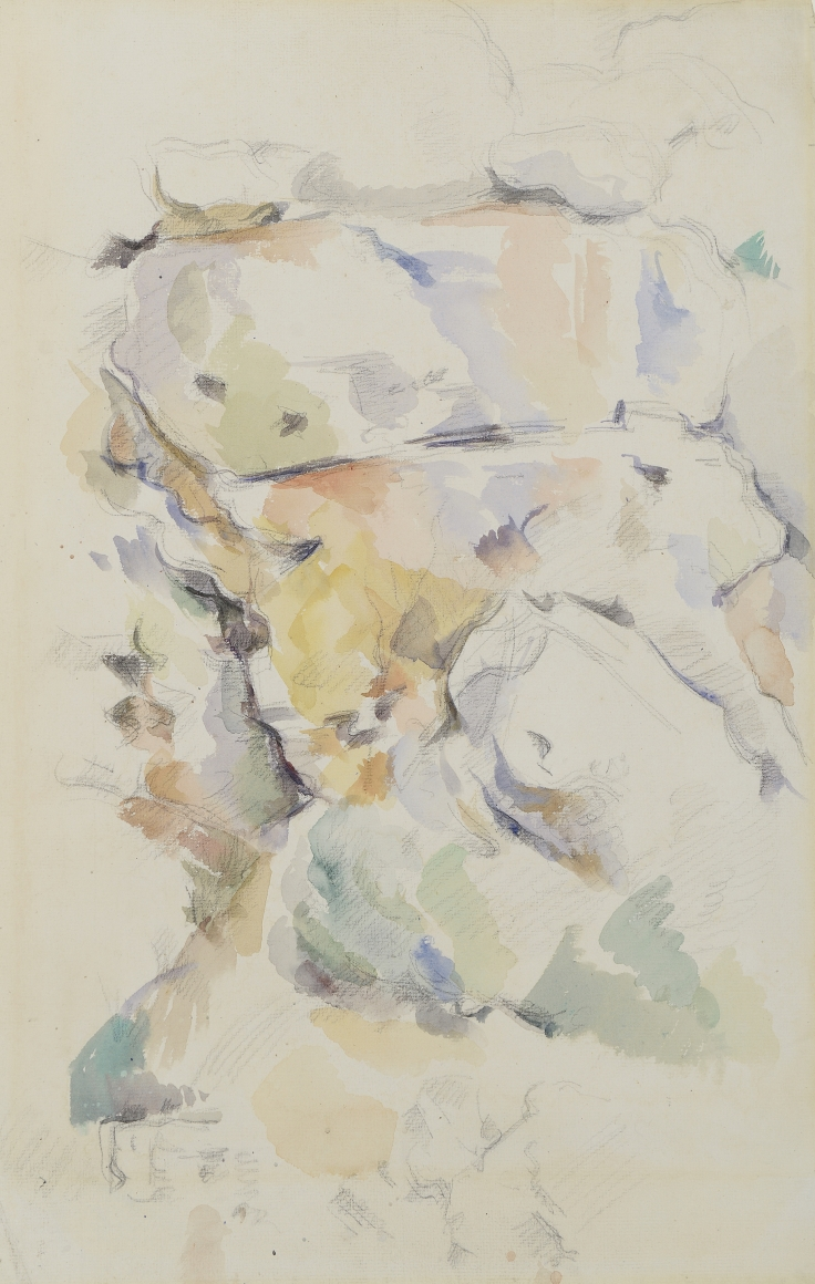 Rocks near the Caves above Chateau Noir bu Paul Cezanne