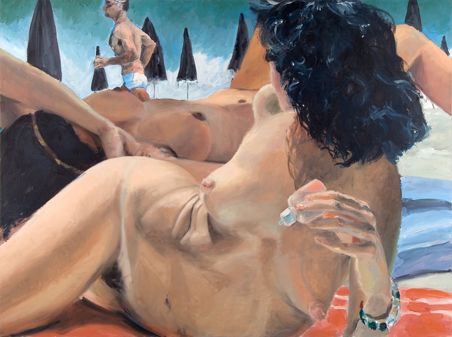 Eric Fischl, The Day the Shah Ran By, 1982, Oil on canvas, 36 x 48 in. (91.5 x 121.9 cm)