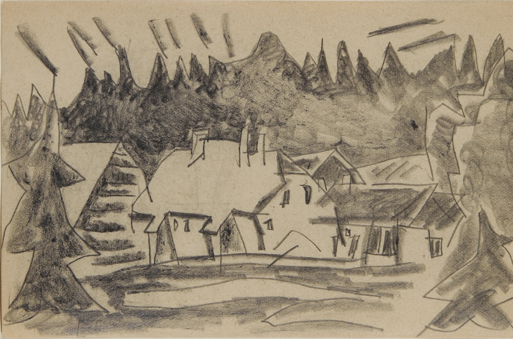 House in the Woods, Harz Mountains by Lyonel Feininger