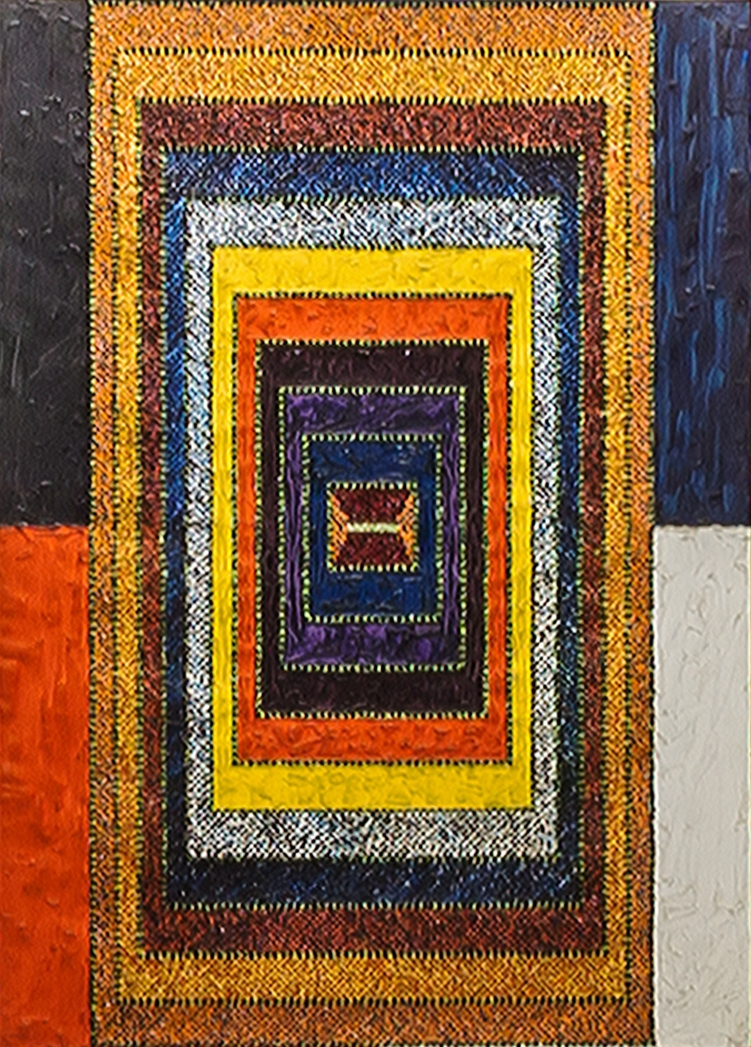 Alfred Jensen, Acrobatic Rectangle Per 2, 1967, Oil on canvas, 66 x 48 in. (167.6 x 121.9 cm), Titled, inscribed and dated on verso