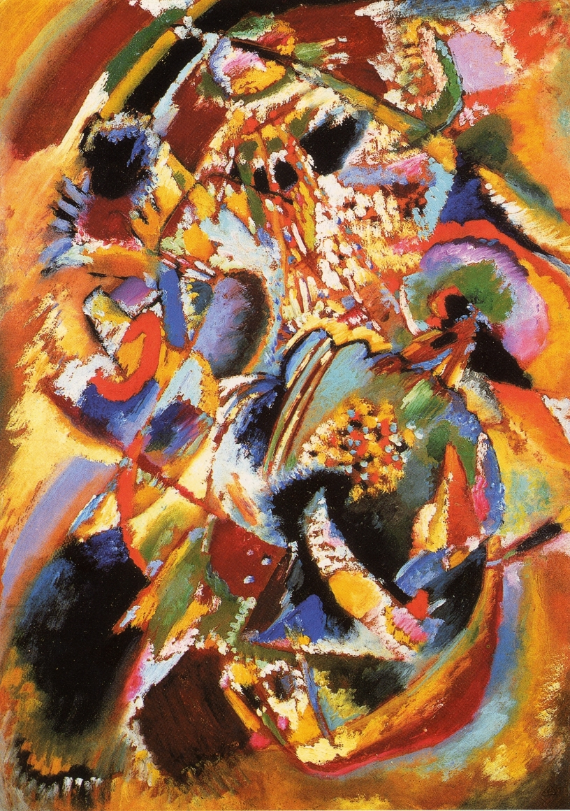 Wassily Kandinsky, Study for Panel Edwin R. Campbell, No. 4, 1914, (also known as Studie zu Winter and Carnival-Winter), Oil on cardboard, 27 ½ x 19 in. (69.8 x 48.4 cm), The Miyagi Museum of Art, Sendai