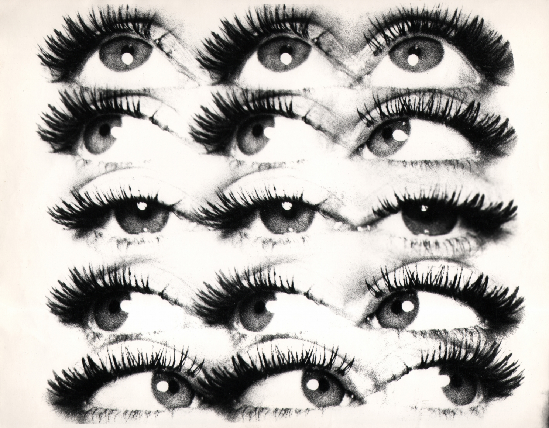 12. David Attie, Untitled, c. 1960. Composite photo of 15 eyes.