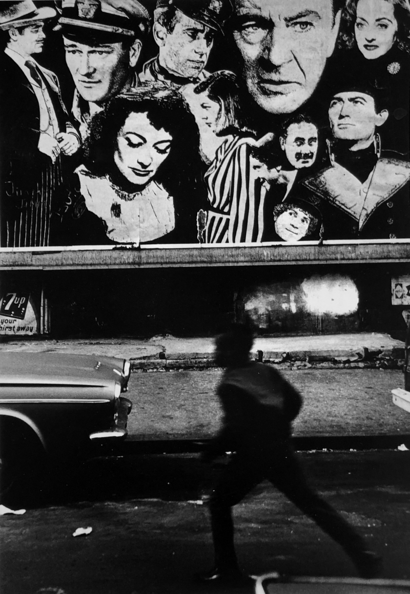 Boy and Movie Poster, Harlem, New York City, 1968, Gelatin silver print, printed later