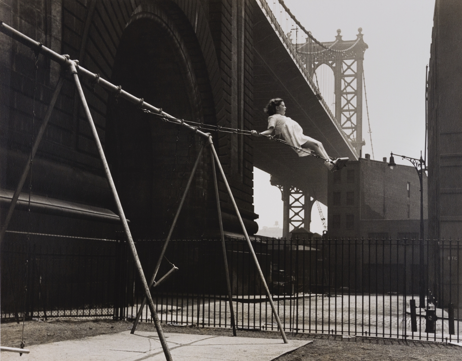 Walter Rosenblum, Girl on a Swing, 1938, gelatin silver print, 11 × 14 in.
