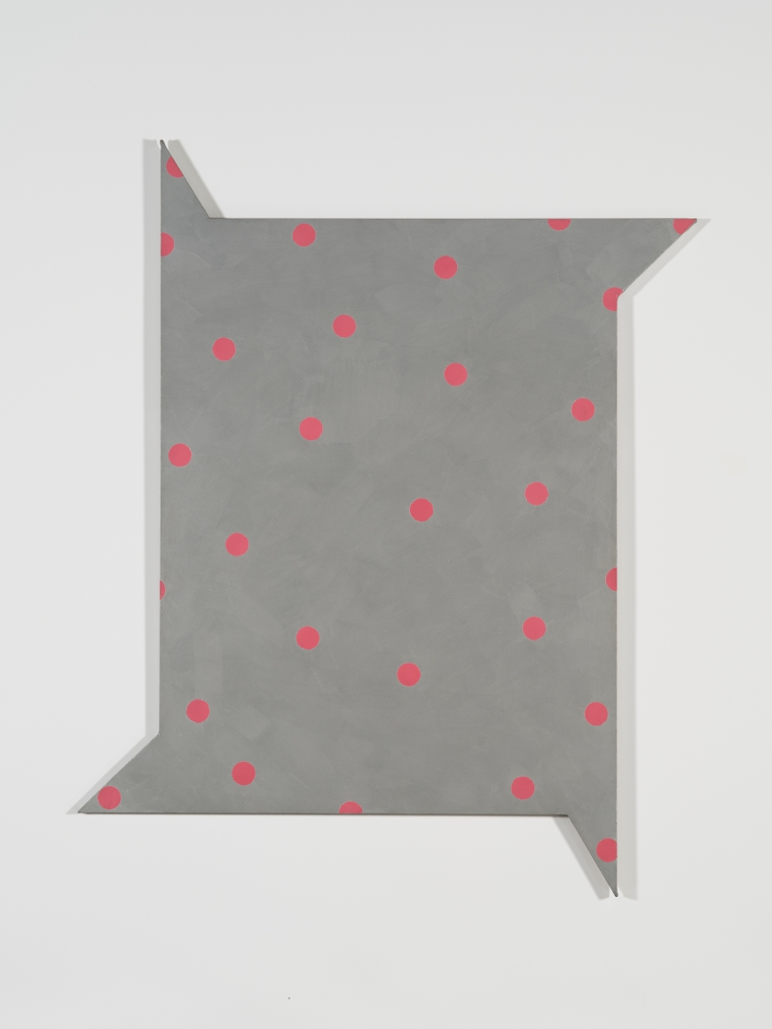 Jeremy Moon, Starlight Hour, 1965, acrylic and enamel on shaped canvas, 79 ½ × 64 15/16 in.